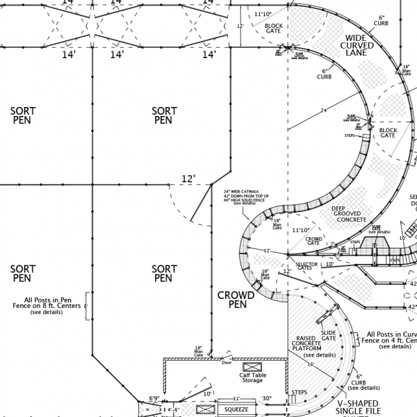 R-10 Facility Drawing Close-Up