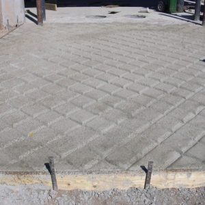 Concrete has to be worked at just the right consistency to ensure proper grooves