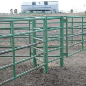The gates for a three-way gate system are hinged on separate posts