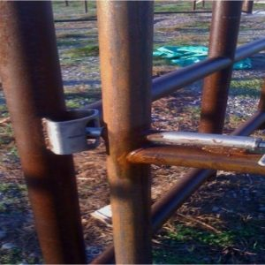 Slam latches can prevent injuries to handlers from cattle pushing gates back into them